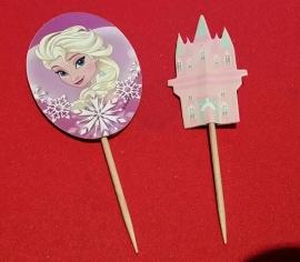 set prikkers Elsa met kasteel (2 st.) - stokje naar keuze