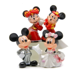 weddingset (4st.) Mickey en Minnie Mouse 6cm