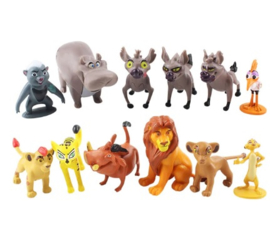 set 12 figuren Simba The Lion King 3-7 cm