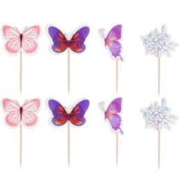 Set prikkers vlinders (4st.) - stokje naar keuze