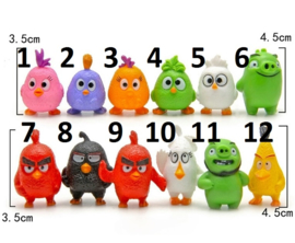 1 kunstof figuur Angry Birds 3,5cm naar keuze