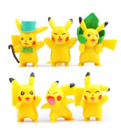 set A figuren Pokemon Pikachu 4,5-5cm (6st.)