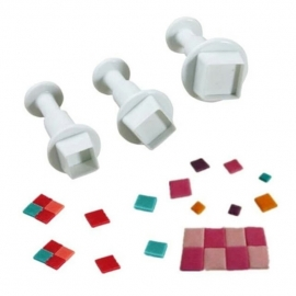 Uitsteker Vierkant (set 3 stuks) 0,5 tot 1,5cm