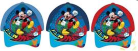 1 Pet Mickey Mouse 50-52cm blauw, rood of licht blauw naar keuze