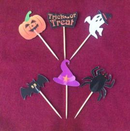 prikkers Halloween A (set van 6) - stokje naar keuze