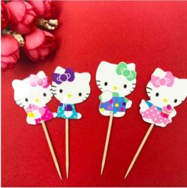 Set prikkers Hello Kitty (4st.) - stokje naar keuze