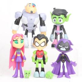 set A 7 grote figuren Teen Titans 12-14cm