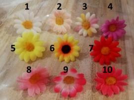topper bloem  (1 stuk) - kleur en  stokje naar keuze