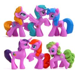 set My Little Pony A (6 paardjes) 4*4cm