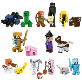 set Minecraft B (16 poppetjes)