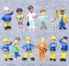 set 12 figuren Sam de Brandweerman 5-6cm