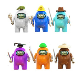 set Among Us B (6 poppetjes) - compatibel met Lego