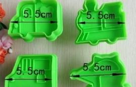Uitsteker Vervoeren (set 4 stuks) 5,5cm
