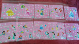 10 klein zakjes 10x10cm  Prinsessen - personage en zakje naar keuze