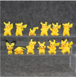 set G mini figuren Pokemon Pikachu 2-3cm (12st.)