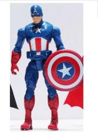 1 figuur  Captain America B 10cm - zonder staand