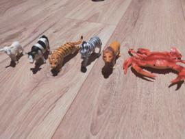 1 set dieren 5cm (6 figuren) - 2de hand