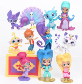 set figuren Shimmer and Shine 4-6cm (12st.) - laatste set