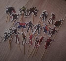 prikkers Superhelden  (set van 36) - gemengd