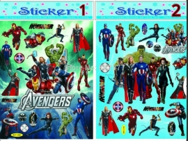 1  stickervel Marvel Avengers Helden A4 (20X25cm)