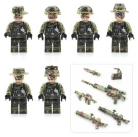 figuurtjes Leger (set van 6 poppetjes + wapens) - compatibel met Lego
