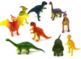 set Dino's B (9 mini figuren) 6cm