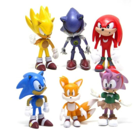 set figures Sonic B (6 poppetjes) 6-7cm