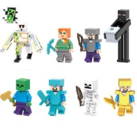 set Minecraft C (8 poppetjes)