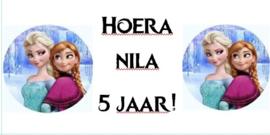 1 Label Frozen op maat - open om de opties te zien