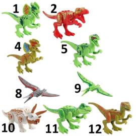 1 figuur Dino A - compatibel met Lego - naar keuze