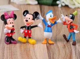 set E Mickey & Co. 5,5-6cm (4 figuren)