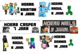 1 Label Minecraft op maat - open om de opties te zien