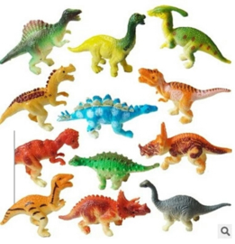set Dino's A (12 mini figuren) 6cm