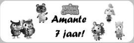 1 Label Animal Crossing - maat en tekst naar keuze