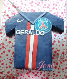 Voetbal shirt Taart