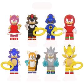 set Sonic A (8 poppetjes) - compatibel met Lego