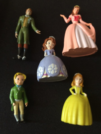 set 5 figuren Prinses Sofia 4,5-5,5cm
