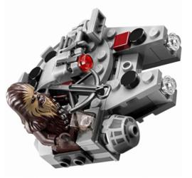 Star Wars Chewbecca + Millennium Falcon Microfighter 8x8,5cm