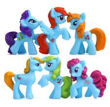 set My Little Pony B (6 paardjes) 4*4cm
