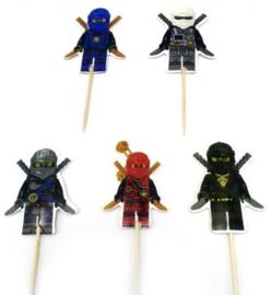 prikkers Ninjago A (set van 30) - stokje naar keuze