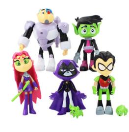 set A 7 grote figuren Teen Titans 12cm