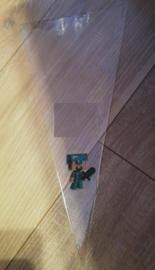 1 puntzakje groot 36x18cm - met stickers Minecraft (label apart te bestellen)