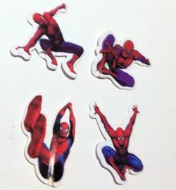 prikkers Spiderman A (set van 4) met lange stokje 18cm