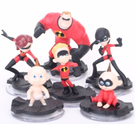 set The Incredibles A (6 figuren  3-10cm)
