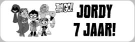 1 Label Teen Titans Go! op maat - open om de opties te zien