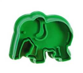 1 Olifant plunger cutter ong. 4x5cm