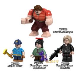 Set 4 figuurtjes Ralph compatibel met Lego
