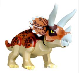 1 Triceratops braun - compatibel met Lego - binnenkort weer op voorraad
