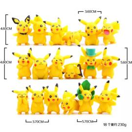 set C Pokemon Pikachu 5cm (18 pezzi)