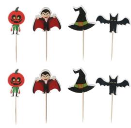 prikkers Halloween B (set van 4) - stokje naar keuze